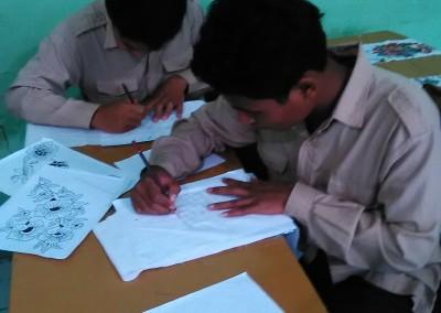 Suasana Belajar Membatik SMA ISLAM (2)